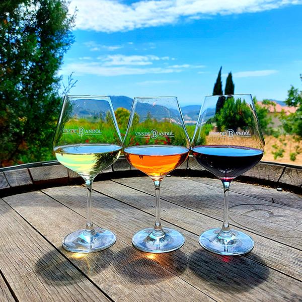 Vins de Bandol - Les 3 couleurs de vins
